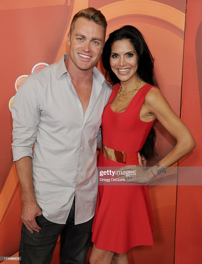Actors Jonathon Buckley and Joyce Giraud arrive at the 2013 NBC Television Critics Association's Summer Press Tour at The Beverly Hilton Hotel on July 27, 2013 in Beverly Hills, California.