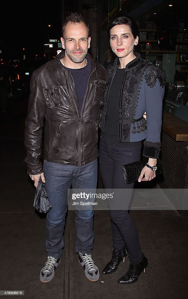 Actors Jonny Lee Miller and Michele Hicks attend Sony Pictures Classics' 'Only Lovers Left Alive' screening hosted by The Cinema Society and Stefano Tonchi, Editor in Chief of W Magazine at Landmark's Sunshine Cinema on March 12, 2014 in New York City.