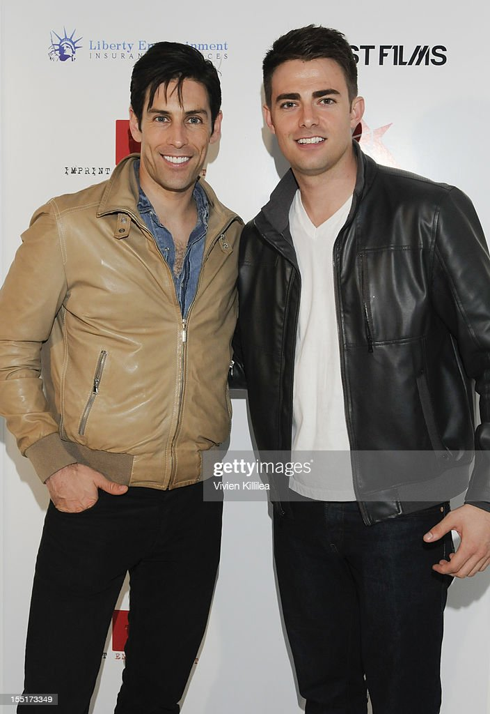 Actors Jordan Belfi and <a gi-track='captionPersonalityLinkClicked' href=/galleries/search?phrase=Jonathan+Bennett&family=editorial&specificpeople=233425 ng-click='$event.stopPropagation()'>Jonathan Bennett</a> attend American Film Market Event For 'Pawn' And 'Officer Down' Special Premiere Preview at Tunnel Post on November 1, 2012 in Santa Monica, California.