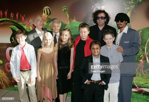 Actors Jordan Fry David Kelly Annasophia Robb Richard Zanuck Julia Winter Phillip Wiegratz Deep Roy director Tim Burton actors Freddie Highmore and...