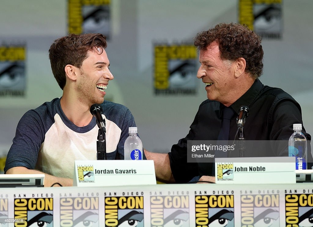 Actors Jordan Gavaris (L) and John Noble attend the TV Guide Magazine: Fan Favorites panel during Comic-Con International 2014 at the San Diego Convention Center on July 26, 2014 in San Diego, California.