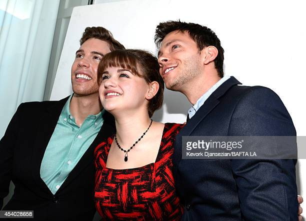 Actors Jordan Gavaris Joey King and Devon Graye attend the 2014 BAFTA Los Angeles TV Tea presented By BBC America And Jaguar at SLS Hotel on August...