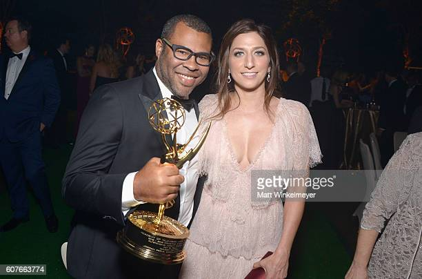 Actors Jordan Peele and Chelsea Peretti attend the 68th Annual Primetime Emmy Awards Governors Ball at Microsoft Theater on September 18 2016 in Los...