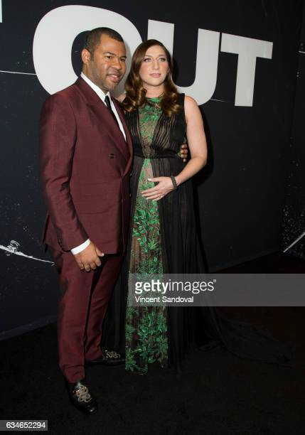 Actors Jordan Peele and Chelsea Peretti attend the screening of Universal Pictures' 'Get Out' at Regal LA Live Stadium 14 on February 10 2017 in Los...