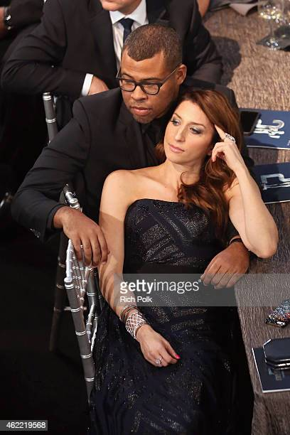 Actors Jordan Peele and Chelsea Peretti attend TNT's 21st Annual Screen Actors Guild Awards at The Shrine Auditorium on January 25 2015 in Los...