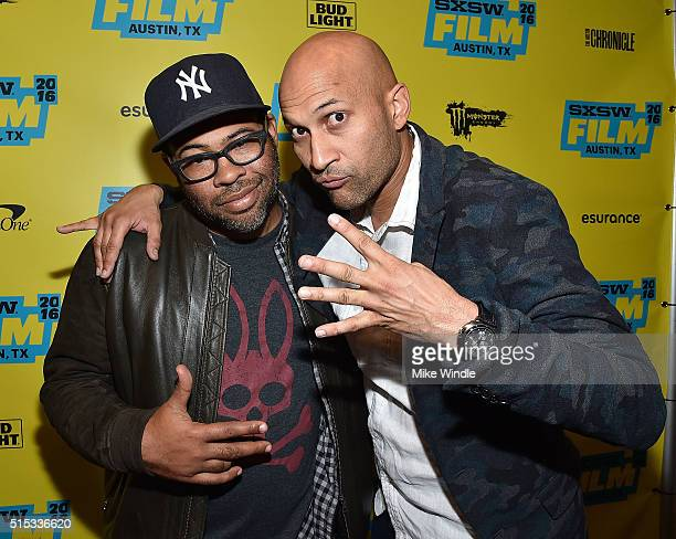 Actors Jordan Peele and KeeganMichael Key attend the screening of 'Keanu' during the 2016 SXSW Music Film Interactive Festival at Paramount Theatre...