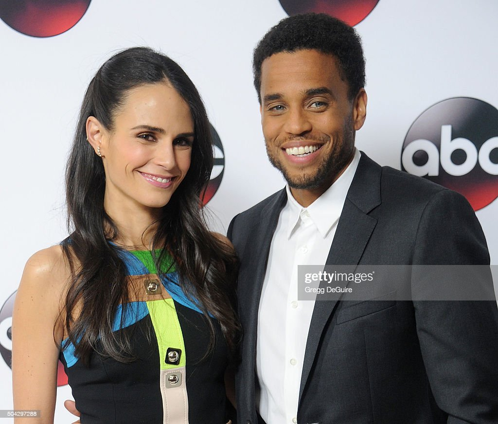 Actors Jordana Brewster and Michael Ealy arrive at the 2016 Winter TCA Tour - Disney/ABC at Langham Hotel on January 9, 2016 in Pasadena, California.