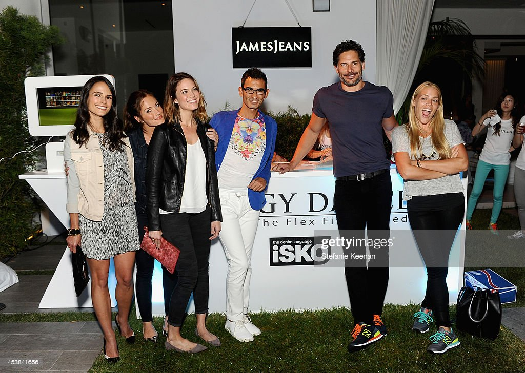 Actors <a gi-track='captionPersonalityLinkClicked' href=/galleries/search?phrase=Jordana+Brewster&family=editorial&specificpeople=207174 ng-click='$event.stopPropagation()'>Jordana Brewster</a>, <a gi-track='captionPersonalityLinkClicked' href=/galleries/search?phrase=Minka+Kelly&family=editorial&specificpeople=632847 ng-click='$event.stopPropagation()'>Minka Kelly</a>, singer Mandy Moore, Senior Marketing Executive at ISKO Kutay Saritosun, actors <a gi-track='captionPersonalityLinkClicked' href=/galleries/search?phrase=Joe+Manganiello&family=editorial&specificpeople=2516889 ng-click='$event.stopPropagation()'>Joe Manganiello</a> and <a gi-track='captionPersonalityLinkClicked' href=/galleries/search?phrase=Busy+Philipps&family=editorial&specificpeople=216133 ng-click='$event.stopPropagation()'>Busy Philipps</a> attend a dance party with New Balance and James Jeans powered by ISKO at the home of Pascal Mouawad on August 19, 2014 in Bel Air, California.