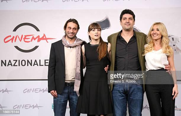 Actors Jordi Molla' Leonor Watling director Cesc Gay and actress Cayetana Guillen Cuervo attend the 'Una Pistola En Cada Mano' photocall during the...