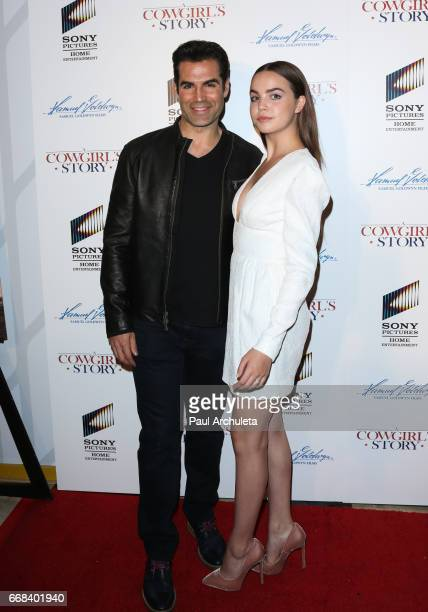 Actors Jordi Vilasuso and Bailee Madison attend the premiere of 'A Cowgirl's Story' at Pacific Theatres at The Grove on April 13 2017 in Los Angeles...