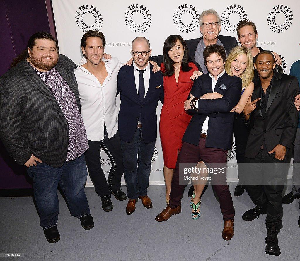 Actors Jorge Garcia Henry Ian Cusick executive producer Damon Lindelof actors Yunjin Kim Ian Somerhalder executive producer Carlton Cuse actors...