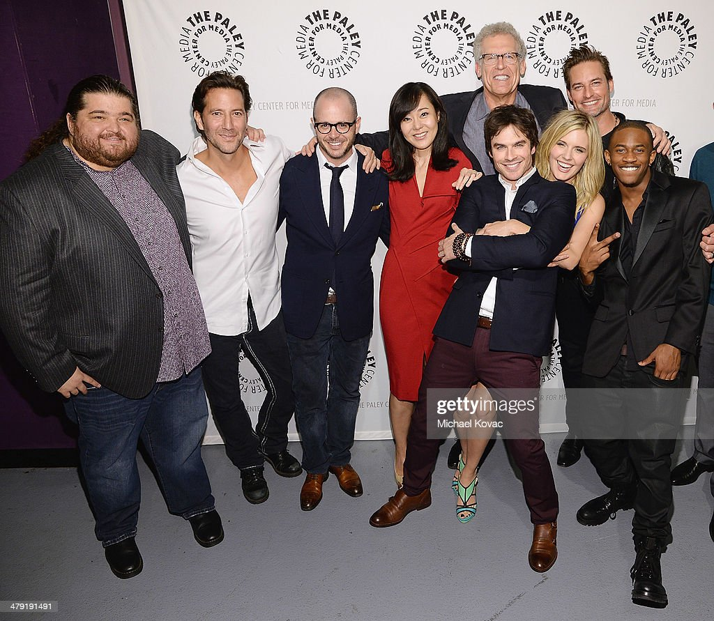 Actors Jorge Garcia, Henry Ian Cusick, executive producer Damon Lindelof, actors Yunjin Kim, Ian Somerhalder, executive producer Carlton Cuse, actors Maggie Grace, Malcolm David Kelley, and Josh Holloway attend The Paley Center For Media's PaleyFest 2014 Honoring 'Lost: 10th Anniversary Reunion' at Dolby Theatre on March 16, 2014 in Hollywood, California.