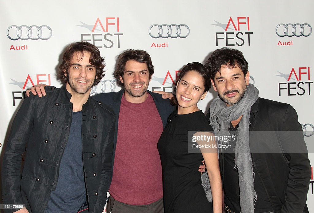 Actors Jose Maria de Tavira, <a gi-track='captionPersonalityLinkClicked' href=/galleries/search?phrase=Stephanie+Sigman&family=editorial&specificpeople=7187720 ng-click='$event.stopPropagation()'>Stephanie Sigman</a> and Miguel Rodarte arrive at the 'Miss Bala' Centerpiece Gala during AFI FEST 2011 presented by Audi at the Egyptian Theatre on November 4, 2011 in Hollywood, California.