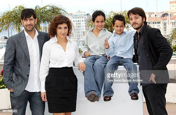 Actors Jose Maria Yazpik Karina Gidi Christopher RuizEsparza Gerardo RuizEsparza and director Diego Luna attend the 'Abel' Photo Call held at the...