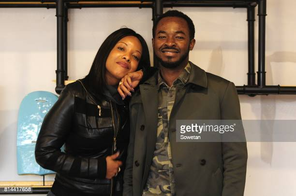 Actors Joselyn Dumas and OC Ukeje pose for a portrait during an interview about the new film Potato Potahto on July 13 2017 in Johannesburg South...