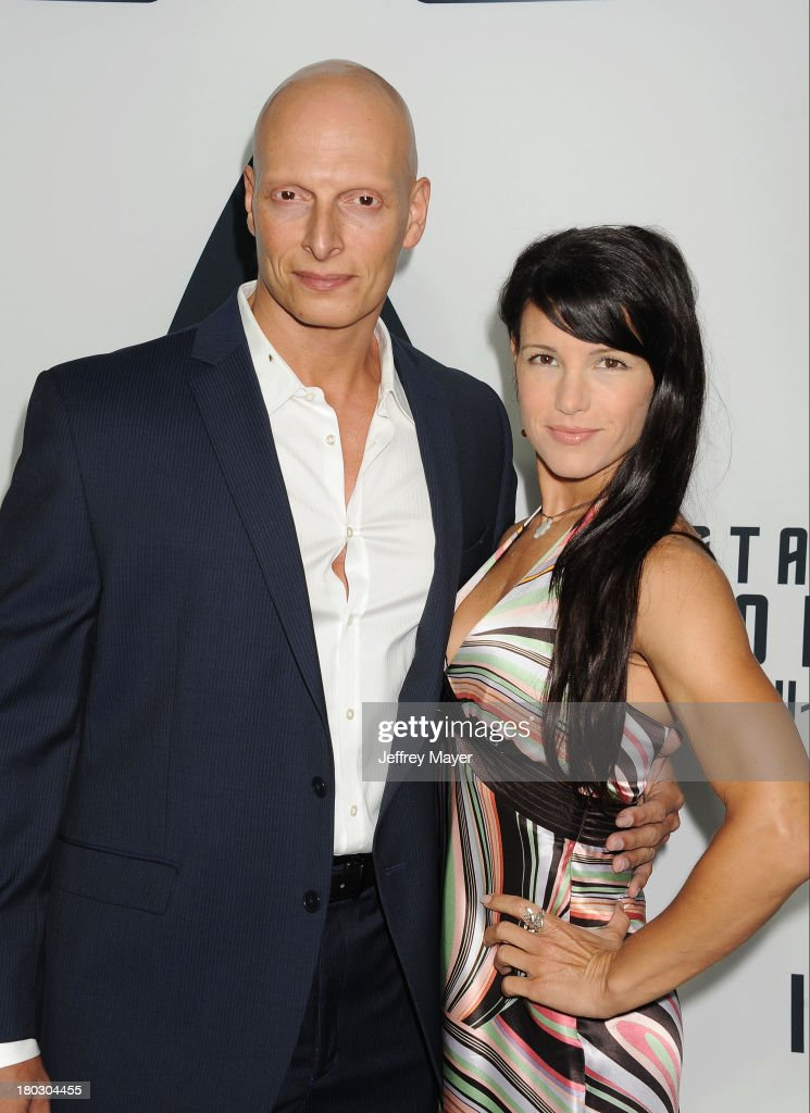 Actors Joseph Gatt and Mercy Malick attend the Paramount Pictures' celebration of the Blu-Ray and DVD debut of 'Star Trek: Into Darkness' at California Science Center on September 10, 2013 in Los Angeles, California.
