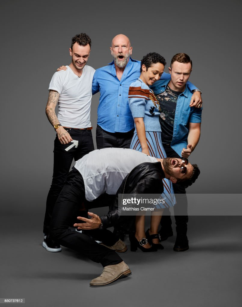 Actors Joseph Gilgun, Graham McTavish, Ruth Negga, Ian Colletti and Dominic Cooper from Preacher are photographed for Entertainment Weekly Magazine on July 20, 2017 at Comic Con in San Diego, California. PUBLISHED