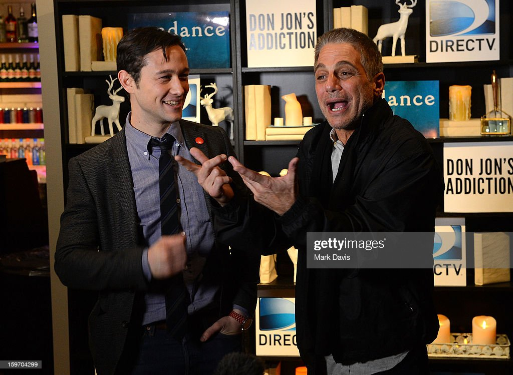 Actors Joseph Godron-Levitt and Tony Danza attend the 'Don Jon's Addiction' premiere party hosted by DirecTV and Sundance Channel on January 18, 2013 in Park City, Utah.