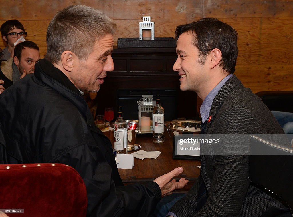 Actors Joseph Godron-Levitt (R) and Tony Danza attend the 'Don Jon's Addiction' premiere party hosted by DirecTV and Sundance Channel on January 18, 2013 in Park City, Utah.