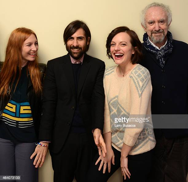Actors Josephine de La Baume Jason Schwartzman Elisabeth Moss and Jonathan Pryce pose for a portrait during the 2014 Sundance Film Festival at the...