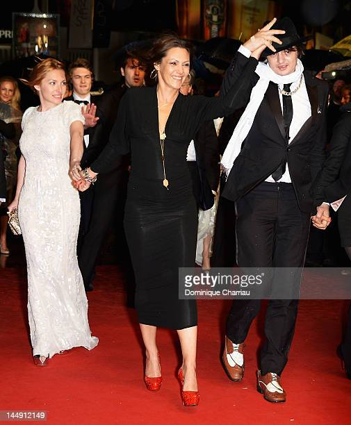 Actors Josephine de La Baume Karole Rocher and musician Pete Doherty attend the 'Confession Of A Child Of The Century' Premiere during the 65th...