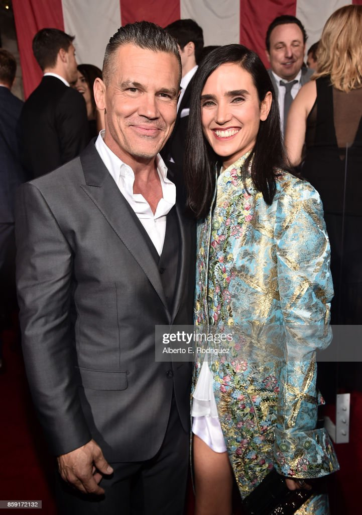 Actors Josh Brolin and Jennifer Connelly attend the premiere of Columbia Pictures' 'Only The Brave' at the Regency Village Theatre on October 8, 2017 in Westwood, California.