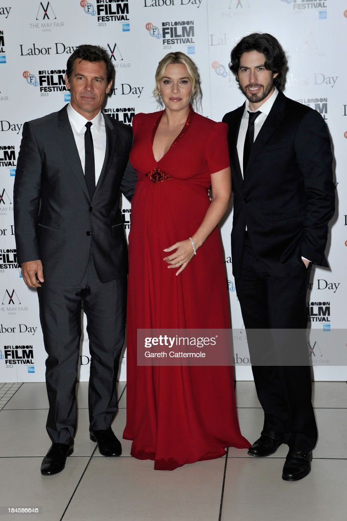 Actors <a gi-track='captionPersonalityLinkClicked' href=/galleries/search?phrase=Josh+Brolin&family=editorial&specificpeople=243198 ng-click='$event.stopPropagation()'>Josh Brolin</a>, <a gi-track='captionPersonalityLinkClicked' href=/galleries/search?phrase=Kate+Winslet&family=editorial&specificpeople=201923 ng-click='$event.stopPropagation()'>Kate Winslet</a> and director <a gi-track='captionPersonalityLinkClicked' href=/galleries/search?phrase=Jason+Reitman&family=editorial&specificpeople=627880 ng-click='$event.stopPropagation()'>Jason Reitman</a> attend the Mayfair Gala European Premiere of 'Labor Day' during the 57th BFI London Film Festival at Odeon Leicester Square on October 14, 2013 in London, England.
