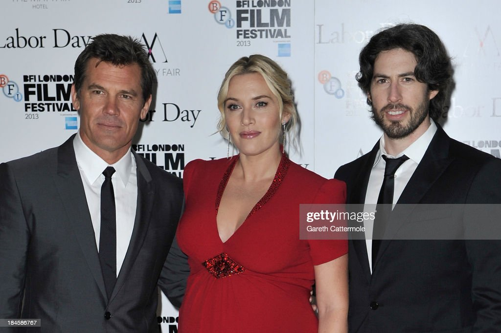 Actors Josh Brolin, Kate Winslet and director Jason Reitman attend the Mayfair Gala European Premiere of 'Labor Day' during the 57th BFI London Film Festival at Odeon Leicester Square on October 14, 2013 in London, England.