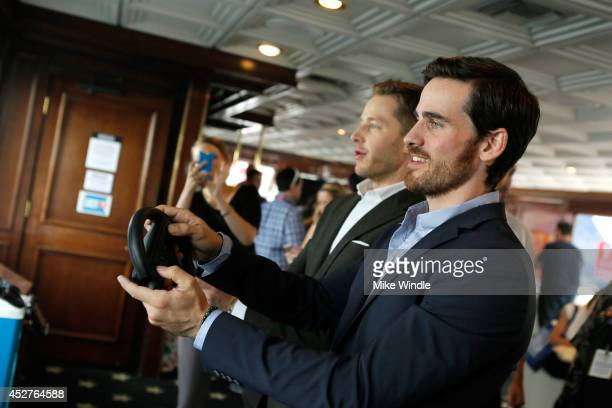 Actors Josh Dallas and Colin O'Donoghue attend the Nintendo Lounge On The TV Guide Magazine Yacht At ComicCon #TVGMYacht during San Diego ComicCon...