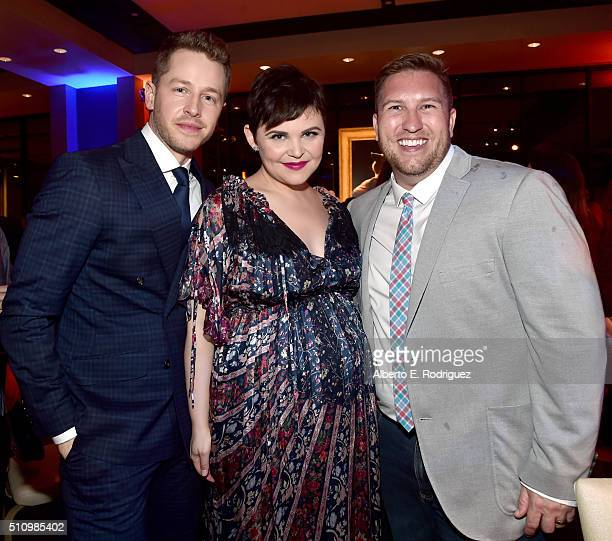 Actors Josh Dallas Ginnifer Goodwin and Nate Torrence attend the Los Angeles premiere of Walt Disney Animation Studios' 'Zootopia' on February 17...