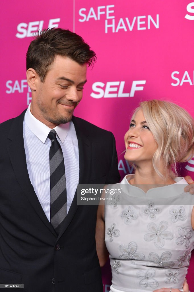 Actors <a gi-track='captionPersonalityLinkClicked' href=/galleries/search?phrase=Josh+Duhamel&family=editorial&specificpeople=208740 ng-click='$event.stopPropagation()'>Josh Duhamel</a> and <a gi-track='captionPersonalityLinkClicked' href=/galleries/search?phrase=Julianne+Hough&family=editorial&specificpeople=4237560 ng-click='$event.stopPropagation()'>Julianne Hough</a> attend SELF Magazine and Relativity Media's special New York screening of 'Safe Haven' at Landmark Theatres Sunshine Cinema on February 11, 2013 in New York City.