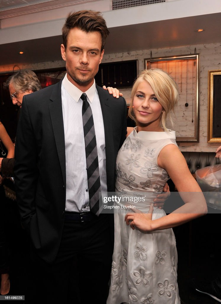 Actors <a gi-track='captionPersonalityLinkClicked' href=/galleries/search?phrase=Josh+Duhamel&family=editorial&specificpeople=208740 ng-click='$event.stopPropagation()'>Josh Duhamel</a> and <a gi-track='captionPersonalityLinkClicked' href=/galleries/search?phrase=Julianne+Hough&family=editorial&specificpeople=4237560 ng-click='$event.stopPropagation()'>Julianne Hough</a> attend the after-party for SELF Magazine and Relativity Media's special New York screening of 'Safe Haven' at Beauty and Essex on February 11, 2013 in New York City.