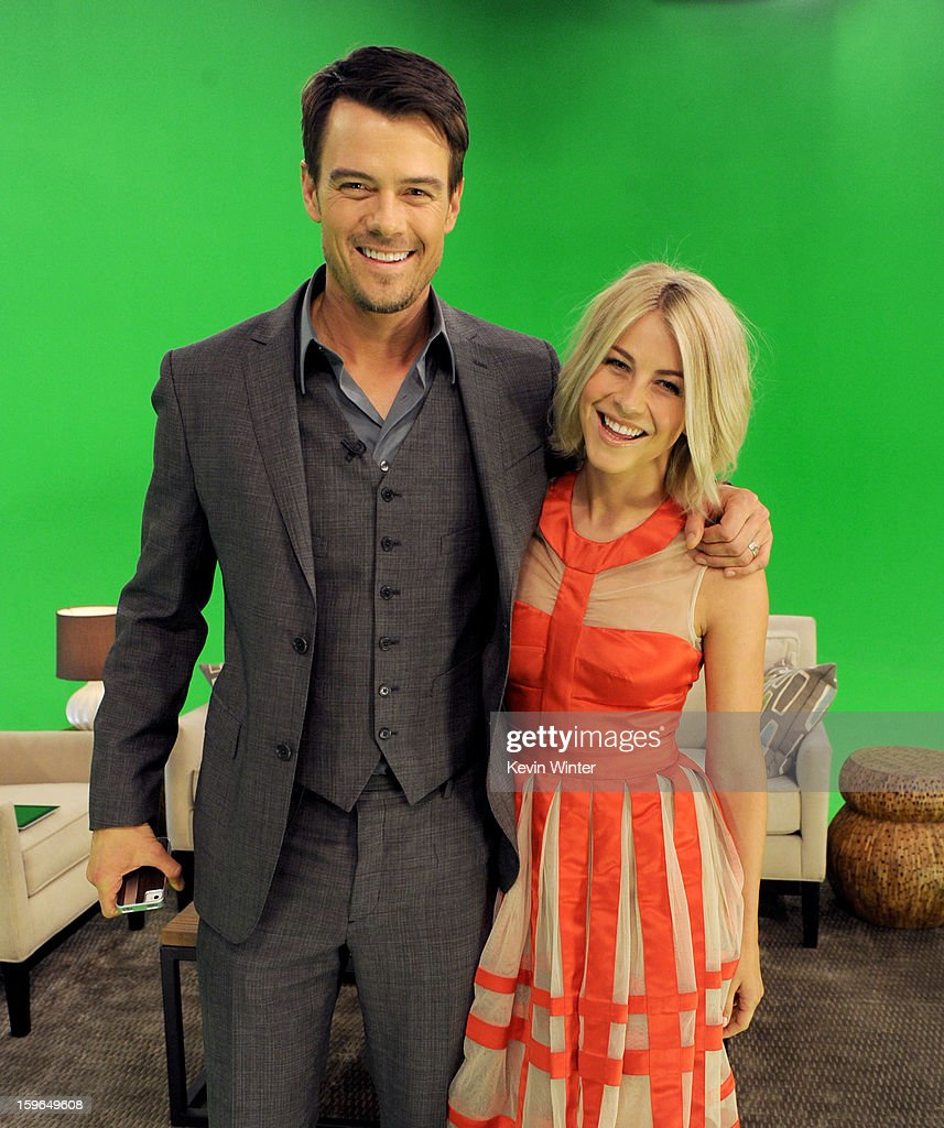 Actors <a gi-track='captionPersonalityLinkClicked' href=/galleries/search?phrase=Josh+Duhamel&family=editorial&specificpeople=208740 ng-click='$event.stopPropagation()'>Josh Duhamel</a> (L) and <a gi-track='captionPersonalityLinkClicked' href=/galleries/search?phrase=Julianne+Hough&family=editorial&specificpeople=4237560 ng-click='$event.stopPropagation()'>Julianne Hough</a> pose at A Night with Nicholas Sparks' Safe Haven: Filmmakers, Author and Stars Bring The Book To Life at Castle Studios on January 17, 2013 in Burbank, California.