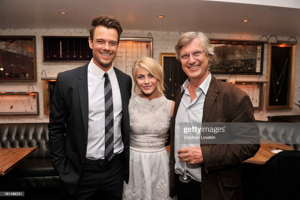 Actors <a gi-track='captionPersonalityLinkClicked' href=/galleries/search?phrase=Josh+Duhamel&family=editorial&specificpeople=208740 ng-click='$event.stopPropagation()'>Josh Duhamel</a> and <a gi-track='captionPersonalityLinkClicked' href=/galleries/search?phrase=Julianne+Hough&family=editorial&specificpeople=4237560 ng-click='$event.stopPropagation()'>Julianne Hough</a> with director <a gi-track='captionPersonalityLinkClicked' href=/galleries/search?phrase=Lasse+Hallstrom&family=editorial&specificpeople=768265 ng-click='$event.stopPropagation()'>Lasse Hallstrom</a> attend the after-party for SELF Magazine and Relativity Media's special New York screening of 'Safe Haven' at Beauty and Essex on February 11, 2013 in New York City.