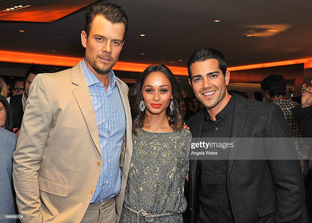 Actors <a gi-track='captionPersonalityLinkClicked' href=/galleries/search?phrase=Josh+Duhamel&family=editorial&specificpeople=208740 ng-click='$event.stopPropagation()'>Josh Duhamel</a>, <a gi-track='captionPersonalityLinkClicked' href=/galleries/search?phrase=Cara+Santana&family=editorial&specificpeople=4311902 ng-click='$event.stopPropagation()'>Cara Santana</a> and <a gi-track='captionPersonalityLinkClicked' href=/galleries/search?phrase=Jesse+Metcalfe&family=editorial&specificpeople=208805 ng-click='$event.stopPropagation()'>Jesse Metcalfe</a> attend the US launch of 'Planet Ocean' presented by Omega Watches at Pacific Design Center on April 18, 2013 in West Hollywood, California.