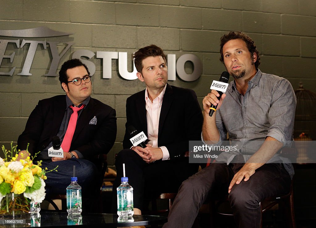 Actors Josh Gad, Adam Scott, and Jeremy Sisto attend the Variety Emmy Studio at Palihouse on May 29, 2013 in West Hollywood, California.