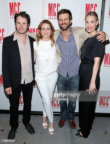 Actors Josh Hamilton Jenna Fischer Fred Weller and Leslie Bibb attend the 'Reasons To Be Happy' Broadway Opening Night After Party at 49 Grove on...
