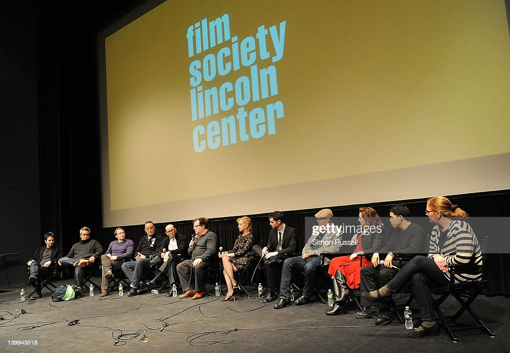 Actors Josh Hamilton, Stephen Adly Guirgis, Matthew Broderick, Jean Reno, panel host Gavin Smith, Director Kenneth Lonergan, J. Smith-Cameron, Jake O'Connor, Kevin Geer, Betsy Aidem, Carlo Alban and Anne McCabe attend the Film Society of Lincoln Center screening of 'Margaret' at Walter Reade Theater on February 25, 2012 in New York City.