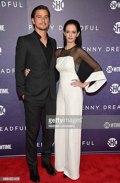 Actors Josh Hartnett and Eva Green arrive at Showtime's 'PENNY DREADFUL' world premiere at The High Line Hotel on May 6 2014 in New York City