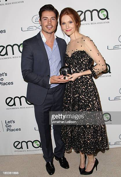 Actors Josh Henderson and Darby Stanchfield attends the 23rd Annual Environmental Media Awards presented by Toyota and Lexus at Warner Bros Studios...