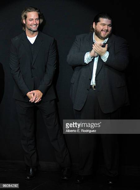 Actors Josh Holloway and Jorge Garcia attend ABC's 'Lost' Live The Final Celebration held at UCLA Royce Hall on May 13 2010 in Los Angeles California