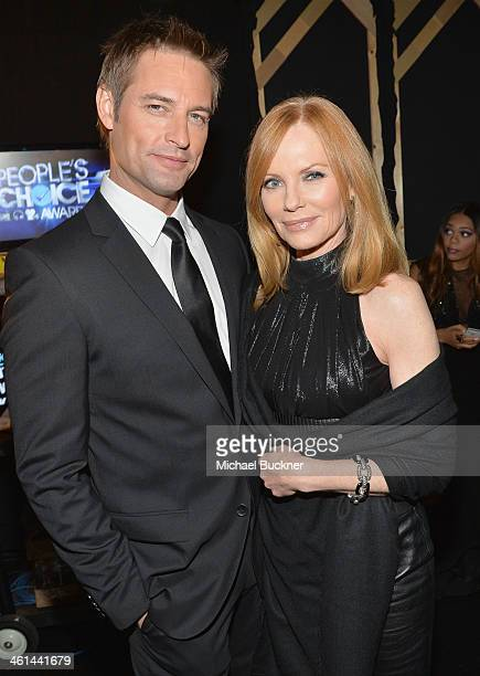 Actors Josh Holloway and Marg Helgenberger attend The 40th Annual People's Choice Awards at Nokia Theatre LA Live on January 8 2014 in Los Angeles...
