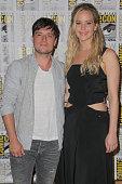 Actors Josh Hutcherson and Jennifer Lawrence attend ComicCon International on July 9 2015 in San Diego California