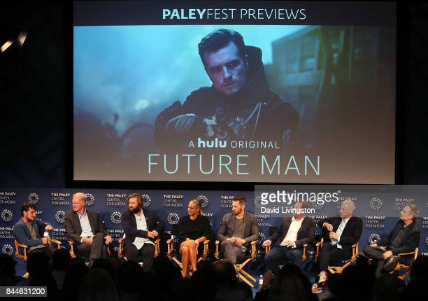 Actors Josh Hutcherson Ed Begley Jr Haley Joel Osment Eliza Coupe and Derek Wilson showrunner Ben Karlin executive producer Matt Tolmach and...