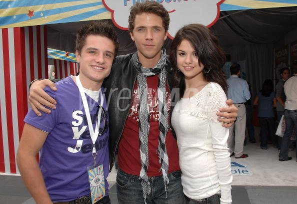 Actors Josh Hutcherson Stephen Lunsford and actress Selena ...