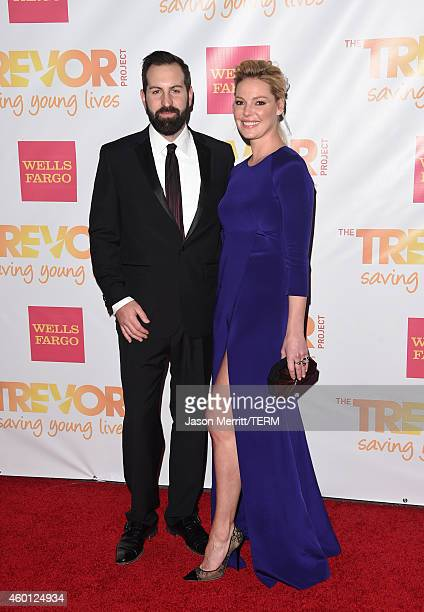 Actors Josh Kelley and Katherine Heigl attend 'TrevorLIVE LA' Honoring Robert Greenblatt Yahoo and Skylar Kergil for The Trevor Project at Hollywood...