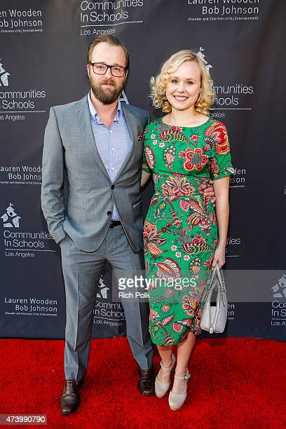 Actors Josh Leonard and Allison Pill attend the Communities In Schools Of Los Angeles Annual Gala on May 18 2015 in Pacific Palisades California