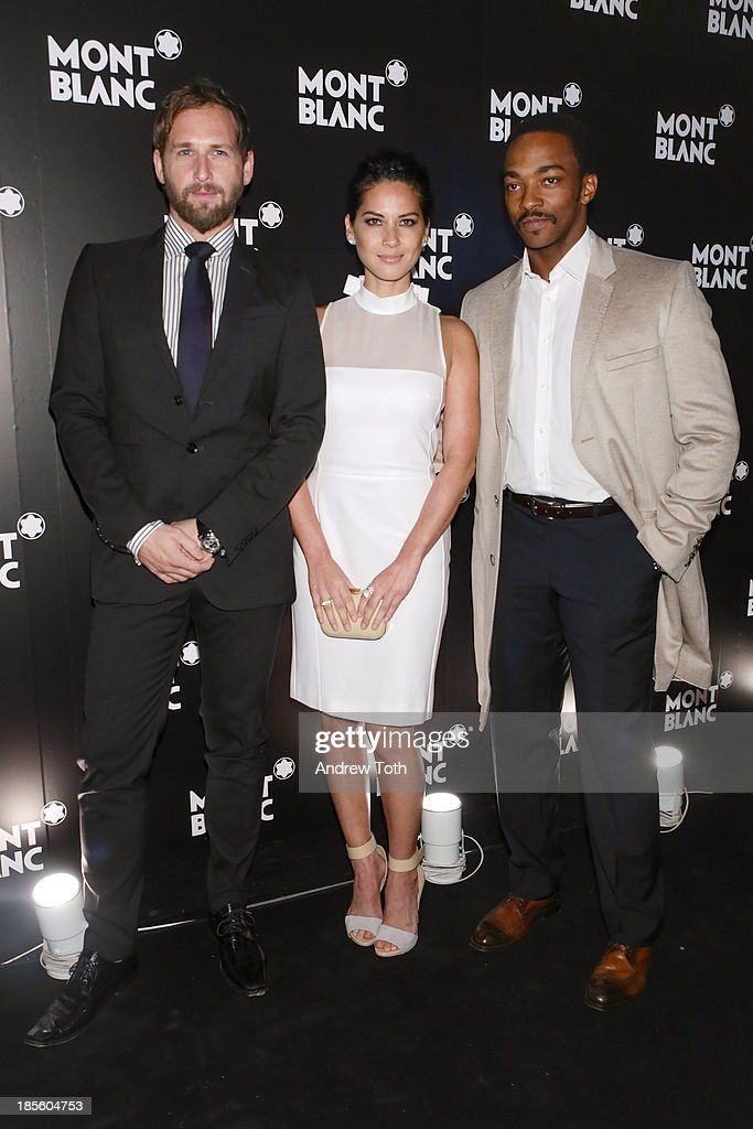 Actors <a gi-track='captionPersonalityLinkClicked' href=/galleries/search?phrase=Josh+Lucas&family=editorial&specificpeople=216514 ng-click='$event.stopPropagation()'>Josh Lucas</a>, <a gi-track='captionPersonalityLinkClicked' href=/galleries/search?phrase=Olivia+Munn&family=editorial&specificpeople=598969 ng-click='$event.stopPropagation()'>Olivia Munn</a> and <a gi-track='captionPersonalityLinkClicked' href=/galleries/search?phrase=Anthony+Mackie&family=editorial&specificpeople=206212 ng-click='$event.stopPropagation()'>Anthony Mackie</a> attend the Montblanc Madison Avenue store opening on October 22, 2013 in New York City.