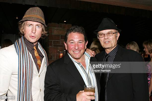Actors Josh Meyers Don Stark and Kurtwood Smith pose together at the Fox Television 'That 70s Show' wrap party held at Tropicana at The Roosevelt...
