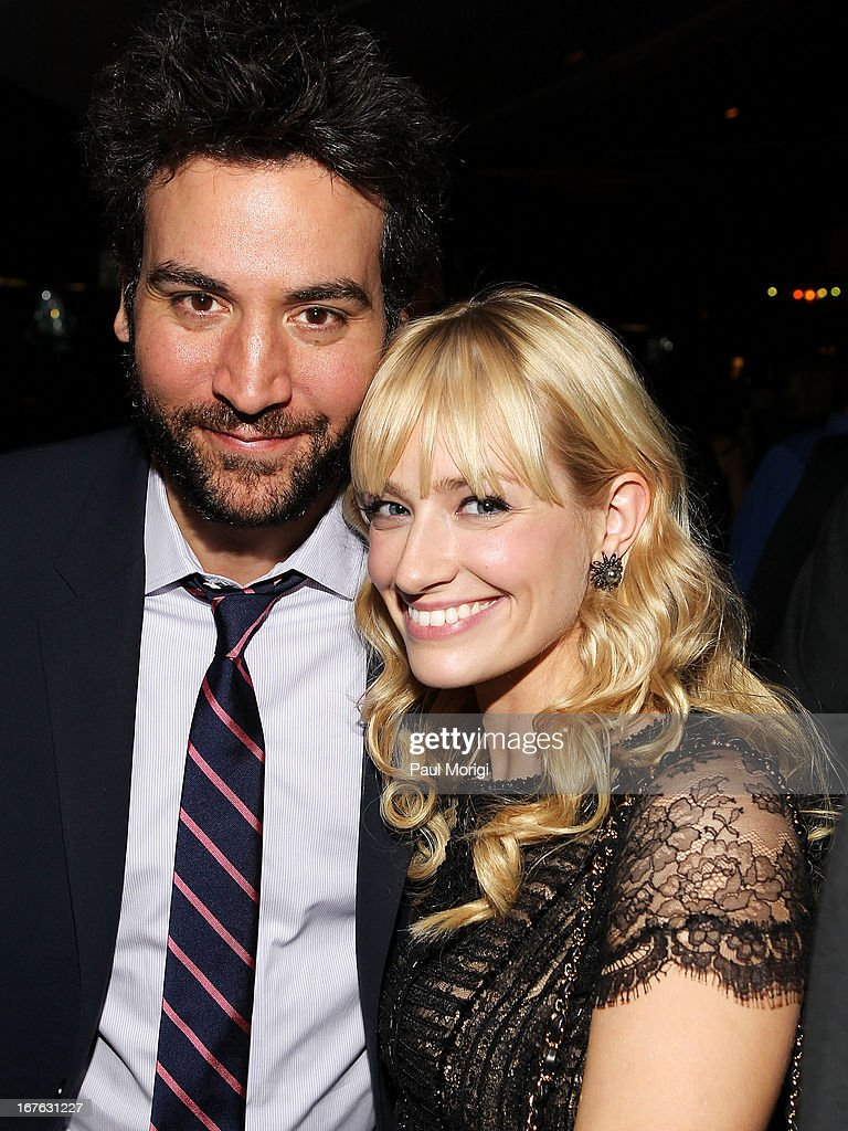 Actors Josh Radnor (L) and Beth Behrs attend The Creative Coalition's and Lanmark Technology Inc.'s celebration of the Arts in America at Neyla on April 26, 2013 in Washington, DC.